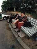 """На скамейке в санатории """"Дюны"""""""