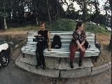 На скамейке в Дюнах